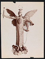 0166325 © Granger - Historical Picture ArchivePLASTER CARTOON, c1896.   Plaster cartoon of Emperor William II of Germany, with wings and a halo. Photograph, c1896.