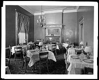 0166438 © Granger - Historical Picture ArchiveNEW YORK: CATHOLIC CLUB.   Ladies' dining room at the Catholic Club, 120 West 59th Street, New York City. Photograph, 1928.
