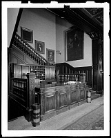 0166439 © Granger - Historical Picture ArchiveNEW YORK: CATHOLIC CLUB.   Entrance lobby and desk at the Catholic Club, 120 West 59th Street, New York City. Photograph, 1928.
