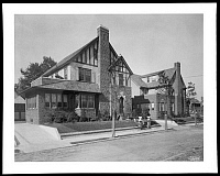 0166455 © Granger - Historical Picture ArchiveBROOKLYN: DALY HOUSES.   Daly houses at Harbor View Terrace and Colonial Court in Fort Hamilton, Brooklyn, New York. Photograph, 1928.