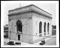0166457 © Granger - Historical Picture ArchiveFLATBUSH SAVINGS BANK.   Flatbush Savings Bank at Flatbush Avenue and Duryea Street, Brooklyn, New York. Photograph, 1928.
