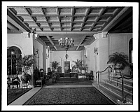 0166479 © Granger - Historical Picture ArchiveHOTEL MAYFLOWER, 1929.   Entrance lobby of the Hotel Mayflower on Park Avenue and 65th Street, New York City. Photograph, 1929.