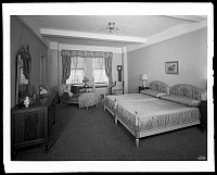0166483 © Granger - Historical Picture ArchiveGUITERMAN APARTMENT, 1929.   Bedroom in the apartment of Mrs. Elson Guiterman (possibly Ginterman), 1185 Park Avenue, apartment 4B, New York City. Photograph, 1929.