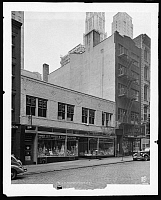 0166525 © Granger - Historical Picture ArchiveNEW YORK: FULTON STREET.   Stores at 199-201 Fulton Street, New York City. Photograph, 1939.