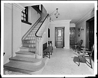0166556 © Granger - Historical Picture ArchivePARK AVENUE APARTMENTS.   Main lobby of the 823 Park Avenue apartments before remodeling, New York City. Photograph, 1941.
