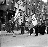 0172100 © Granger - Historical Picture ArchiveFLAG BEARERS, 1935.  New York City neighborhood parade.