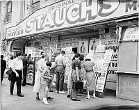 0172329 © Granger - Historical Picture ArchiveSTAUCH'S OLDE TIME MOVIES.   Photograph, Coney Island, Brooklyn, 1939.