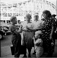 0172333 © Granger - Historical Picture ArchiveFAMILY ON SURF AVENUE, 1939.   A family on Surf Avenue in Coney Island, Brooklyn. Photograph, 1939.