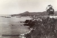 0246137 © Granger - Historical Picture ArchiveFUNCHAL BAY, MADEIRA ISLAND, MADEIRA ISLANDS.   Funchal Bay and the city of Funchal on volcanic Madeira Island. David G. Fairchild.