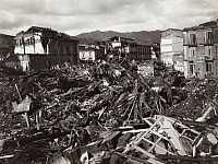0246624 © Granger - Historical Picture ArchivePIAZZO SAN LEO, MESSINA, SICILY, ITALY.   The total force of the quake seen in the rubble of Piazzo San Leo. Charles W. Wright.