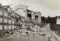 0246630 © Granger - Historical Picture ArchiveCAMPO SANTO, NEAR MESSINA, SICILY, ITALY.   The tombs of Campo Santo spilled out into the street during the quake. Charles W. Wright.