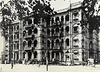 0246847 © Granger - Historical Picture ArchiveBOMBAY, MAHARASHTRA STATE, INDIA.   The British Colonial era front facade of the Y.M.C.A. building. William M. Zumbro.