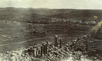 0246920 © Granger - Historical Picture ArchiveJERASH, JORDAN.   The colonnaded ruins of the ancient Roman city of Gerasa. Franklin Hoskins.