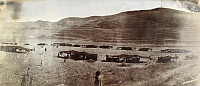 0246938 © Granger - Historical Picture ArchiveARABIA.   Dozens of Bedouin goat hair tents stretch across a valley. Archibald Forder.