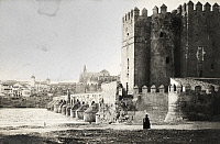 0247068 © Granger - Historical Picture ArchiveCORDOVA, SPAIN.   Roman bridge and ancient fortress walls near the Guadalquivir River. Charles Upson Clark.