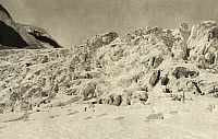 0247190 © Granger - Historical Picture ArchiveGEIKIE GLACIER, SELKIRK MOUNTAINS, BRITISH COLUMBIA, CANADA.   Icebridges and fissures in Geikie Glacier's upper icefall. Howard Palmer.