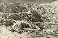 0247191 © Granger - Historical Picture ArchiveGEIKIE GLACIER, SELKIRK MOUNTAINS, BRITISH COLUMBIA, CANADA.   Peaks and fissures of Geikie Glacier's middle icefall. Howard Palmer.