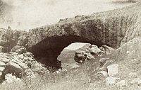 0247496 © Granger - Historical Picture ArchiveNEAR FAQRA, LEBANON.   The natural bridge, Jisr el Hajar, spans Nahr el laban stream. Archibald Forder.