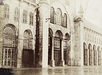 0247500 © Granger - Historical Picture ArchiveDAMASCUS, SYRIA.   The exterior facade of the north side of the Great Mosque. Archibald Forder.