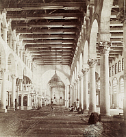 0247502 © Granger - Historical Picture ArchiveDAMASCUS, SYRIA.   The columned arched interior of the Great Mosque. Archibald Forder.