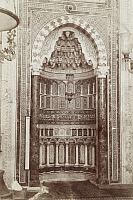 0247504 © Granger - Historical Picture ArchiveDAMASCUS, SYRIA.   An elaborate mosaic and carved marble prayer niche in a mosque. Archibald Forder.