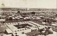 0247507 © Granger - Historical Picture ArchiveDAMASCUS, SYRIA.   A rooftop view of domes, minarets, and two story caravansaries. Archibald Forder.