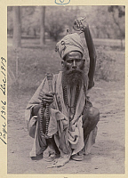 0248531 © Granger - Historical Picture ArchiveINDIA.   A sadhu remains with arm raised in penance, forever deforming it. No Credit Given.