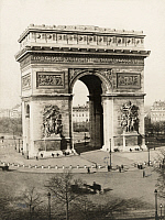 0248662 © Granger - Historical Picture ArchivePARIS, FRANCE.   The Arc de Triomphe de l'Etoile honors the triumphs of French troops. Underwood And Underwood.