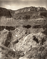 0249635 © Granger - Historical Picture ArchiveGRAND CANYON, ARIZONA, USA.   The Bright Angel Trail distantly extends to the bottom of the canyon. The American Magazine.