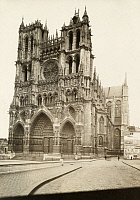 0249675 © Granger - Historical Picture ArchiveAMIENS, FRANCE.   Amiens Cathedral has some of the finest gothic architecture in France. E. M. Newman.