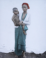 0250222 © Granger - Historical Picture ArchiveWESTERN MINDANAO, PHILIPPINES.   Portrait of a Subanon woman holding her child. Dean C. Worcester.
