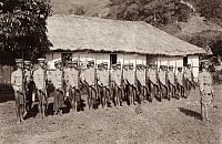 0250245 © Granger - Historical Picture ArchiveLUZON, PHILIPPINES.   Bontoc Igorot constabulary soldiers stand at attention in Luzon. Dean C. Worcester.