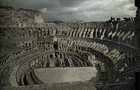 0250574 © Granger - Historical Picture ArchiveROME, ITALY.   A view of the Colosseum from a high vantage point. Hans Hildenbrand.