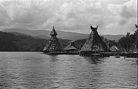 0250725 © Granger - Historical Picture ArchiveTOBADI, HUMBOLDT BAY, DUTCH NEW GUINEA.   A view of the Papuans' sacred structures. Thomas Barbour.