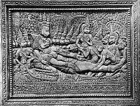 0250820 © Granger - Historical Picture ArchiveANGKOR WAT, CAMBODIA.   A relief sculpture depicts the death of Hanuman, the monkey king. Fournereau Collection.