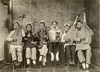 0251052 © Granger - Historical Picture ArchiveTAIWAN, JAPAN.   An informal group portrait of an orchestra of tea-house entertainers. Taiwan Gov'T Information Office.
