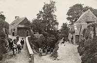 0251709 © Granger - Historical Picture ArchiveCARHAIX, BRITTANY, FRANCE.   A street scene in a small, rural village that is known for its cattle. Crete, Ltd..