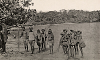 0252171 © Granger - Historical Picture ArchiveNEW GUINEA, MELANESIA, PACIFIC ISLANDS.   Necessity demands hill people come down to trade with lowland people. J. P. Thomson.