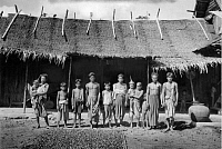 0252427 © Granger - Historical Picture ArchiveLOWER SIAM.   Portrait of an agricultural family in lower Siam. Dr. Joseph F. Rock.