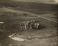 0252688 © Granger - Historical Picture ArchiveSTONEHENGE, WILTSHIRE, ENGLAND.   An aerial view of the relics located at Stonehenge. Central Aerophoto Co. , Ltd.