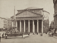 0252764 © Granger - Historical Picture ArchiveROME, ITALY.   A view of the exterior of the Roman Pantheon and its portico. Spooner, Wm. M. And Co.