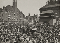 0252920 © Granger - Historical Picture ArchiveCOPENHAGEN, DENMARK.   A view of the crowd on Children's Day in City Hall Square. Ewing Galloway.