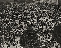 0252929 © Granger - Historical Picture ArchiveCOPENHAGEN, DENMARK.   An view of the busy public market in one of Copenhagen's squares. Ewing Galloway.