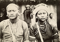 0253634 © Granger - Historical Picture ArchiveTAIWAN, JAPAN.   An informal portrait of two natives of the Paiwan indigenous group. Taiwan Gov'T Information Office.