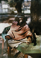 0254085 © Granger - Historical Picture ArchiveRANGOON, MYANMAR.   An Indian fakir and fortune-teller, who dwells near Shwe Dagon Pagoda. Gervais Courtellemont.