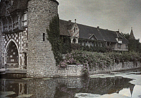 0254450 © Granger - Historical Picture ArchiveFECAMP NEIGBBORHOOD, SEINE INFERIEURE, NORMANDY, FRANCE.   A view of the Castle of La Pommeraye. Gervais Courtellemont.