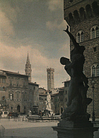 0255236 © Granger - Historical Picture ArchiveFLORENCE, ITALY.   A view of the Piazza della Signoria. Gervais Courtellemont.