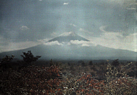 0255298 © Granger - Historical Picture ArchiveNEAR TOKYO, FUJIYAMA, JAPAN.   A view of Mount Fuji. Franklin Price Knott.