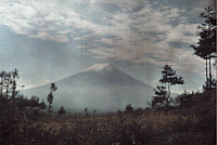 0255301 © Granger - Historical Picture ArchiveNEAR TOKYO, FUJIYAMA, JAPAN.   A distant view of Mount Fuji. Franklin Price Knott.