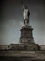 0256071 © Granger - Historical Picture ArchiveTHE STATUE OF LIBERTY, NEW YORK CITY, NEW YORK, USA.   A view of the Statue of Liberty. Clifton R. Adams And Edwin L. Wisherd.